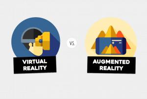 VR vs AR miniature